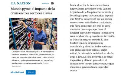 """Jorge Göttert para La Nación: """"Creemos firmemente que la actividad mejorará su perfil a partir del segundo trimestre de 2019"""""""